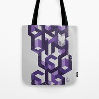 deadmau5 Tote Bags featuring Gravity Levels - Geometry by Sitchko Igor
