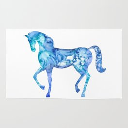 Blue horse in my dreams Rug