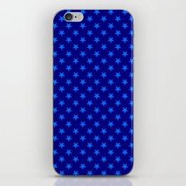 Brandeis Blue on Navy Blue Stars iPhone Skin