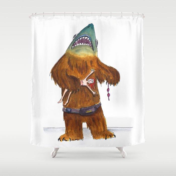 Shark Bear Shower Curtain