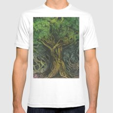 Living Tree MEDIUM White Mens Fitted Tee