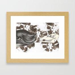 whale awhile Framed Art Print