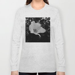 Wild Beach Rose in Black and White Long Sleeve T-shirt
