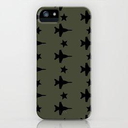 F-18 Hornet Fighter Jet Pattern iPhone Case