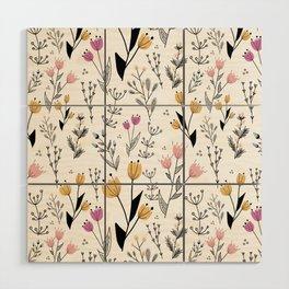 Flower Pattern Wood Wall Art