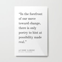 46  | Audre Lorde |Audre Lorde Quotes | 200621 | Black Excellence Metal Print