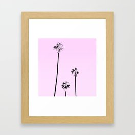 Pink Palms Framed Art Print