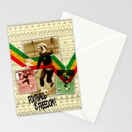 Football is freedom Stationery Cards