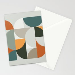 Mid Century Geometric 12 Stationery Cards