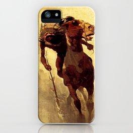 "N C Wyeth Vintage Western Painting ""Indian Lance"" iPhone Case"
