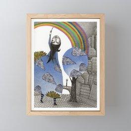 Rainbow Mine Framed Mini Art Print