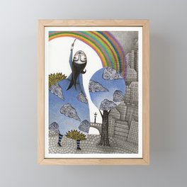 Rainbow Mine Framed Mini Art Print