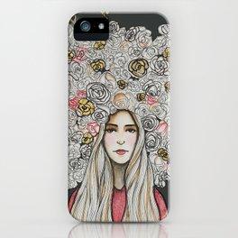""" Floret Gold "" iPhone Case"