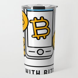 Pay With Bitcoin (Mobile Payments) Icon Travel Mug