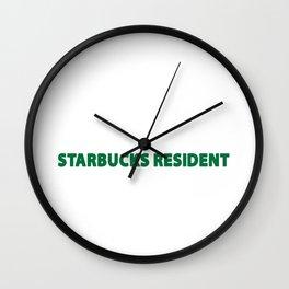 starbucks resident Wall Clock