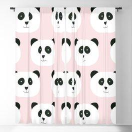 Panda Love -Pink Blackout Curtain