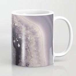 Grey and Black Agate Geode Crystal Crystals Coffee Mug