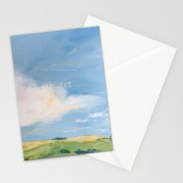 original abstract landscape painting number 11 Stationery Cards