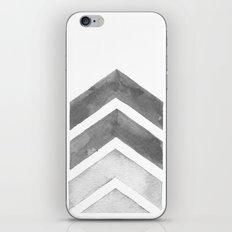 Grey Watercolor Chevron Art iPhone Skin