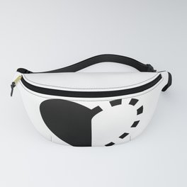 Micah Mason Foundation Heart - Black Fanny Pack