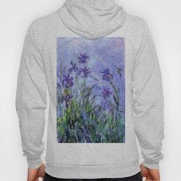 Claude Monet Lilac Irises 1914 Hoody