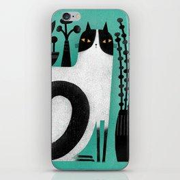 CAT SHELF BACK iPhone Skin
