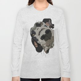 Great Dane dog in your face Long Sleeve T-shirt