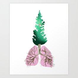 organic lungs Art Print