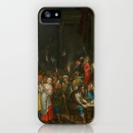 FRANCKEN, HIERONYMUS III (1611 Antwerp after 1661) Christ before Annas and the denial of Saint Peter iPhone Case