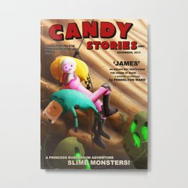 Candy Stories 'James' Pulp Novel Metal Print
