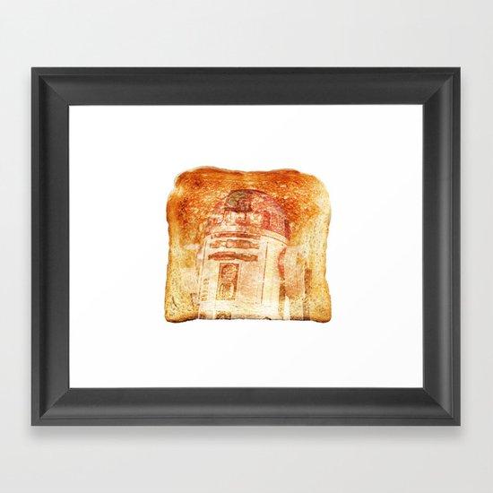R2D2 toast Framed Art Print