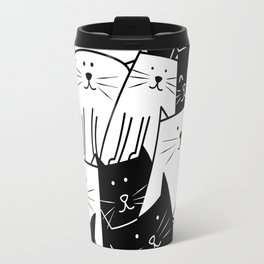 The Cats are Watching - B/W Travel Mug