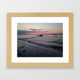 No Filter Jetties at High Tide  Framed Art Print