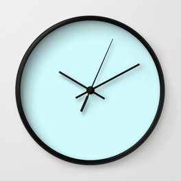 Happy Place Matching Light Blue Wall Clock