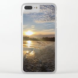 Melancholy Sunset Clear iPhone Case