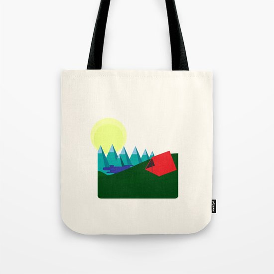 Camping is fun! Tote Bag