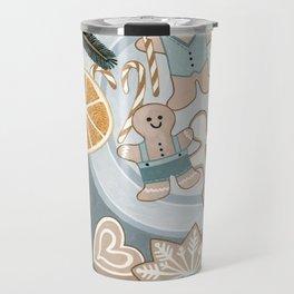 Gingerbread Men Cookies Travel Mug
