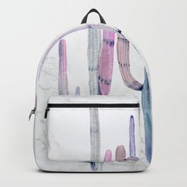 Cactus Trio Marble Blue by Nature Magick Backpack