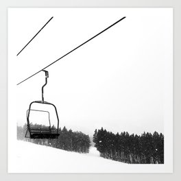 Ski Lifts Views Art Print