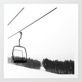 Ski Lifts Views Art Print