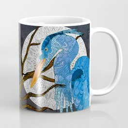 Egret Moon Coffee Mug