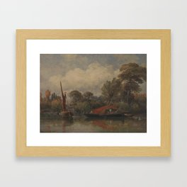Opposite my House at Barnes by Edward William Cooke, 1862. Framed Art Print
