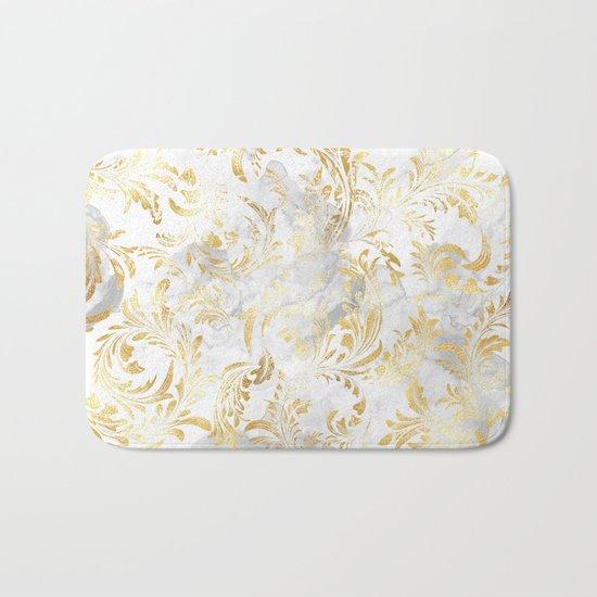 Elegant Gold swirls Bath Mat