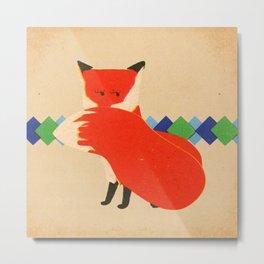 Lady Fox Metal Print