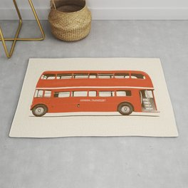 Double-Decker London Bus Rug