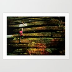 Climbing Girl Art Print