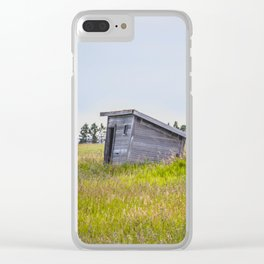 Outhouses, Palmgren Township School, North Dakota 1 Clear iPhone Case