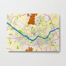 Seoul map Design Metal Print