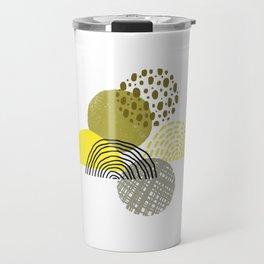 Yellow circles abstract illustration Travel Mug