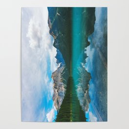 The Mountains and Blue Water - Nature Photography Poster